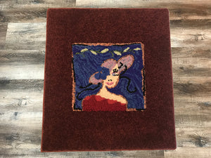 Fancy Lady with Hat Area Rug - InRugCo Studio & Gift Shop