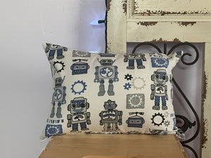"Lumbar (12"" x 16"") Robot Gear Pillow Covers - InRugCo Studio & Gift Shop"