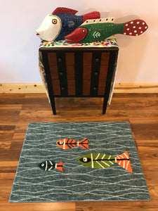 Fish Area Rug - InRugCo Studio & Gift Shop