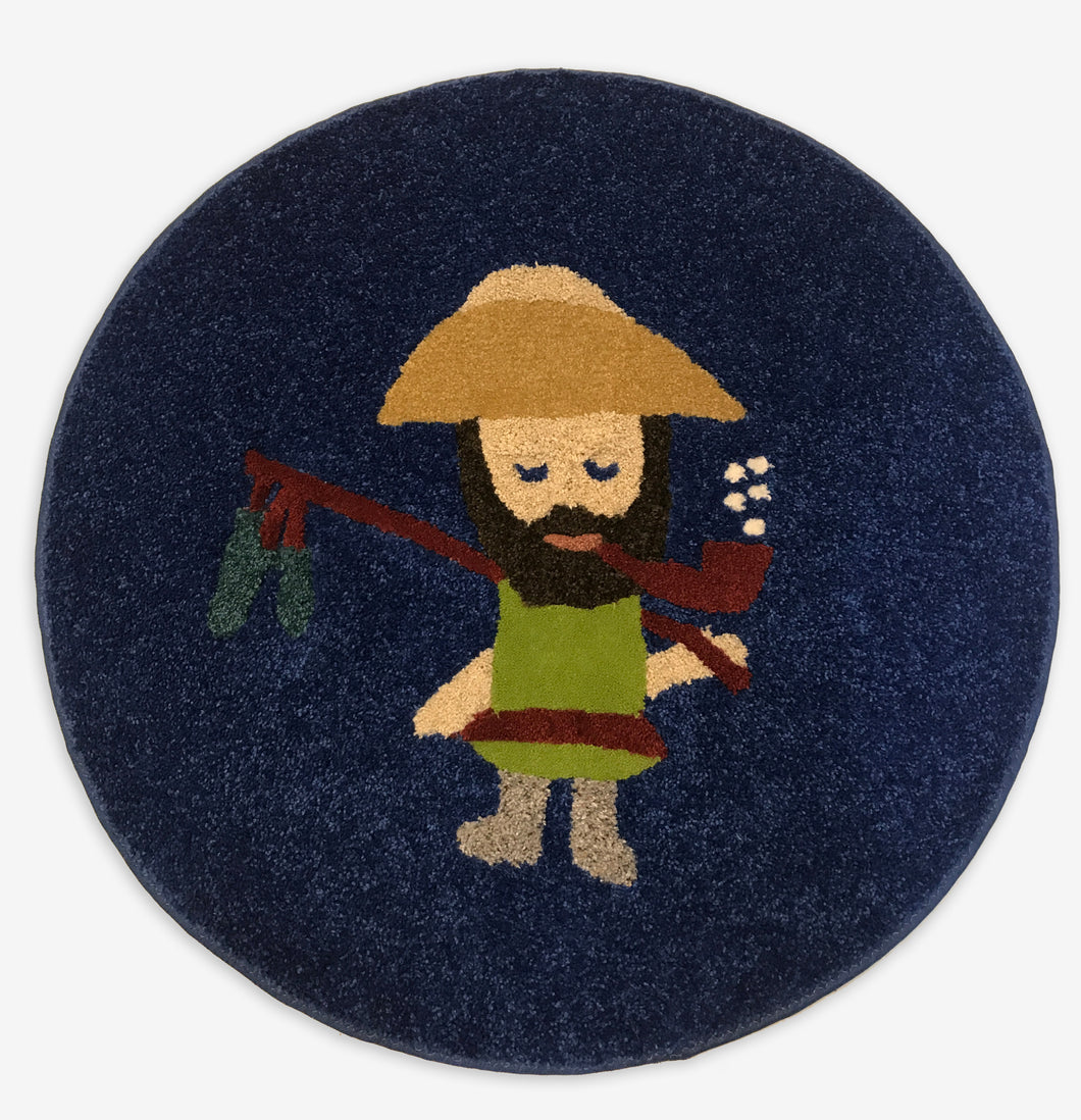 Ol' Fisherman Area Rug - InRugCo Studio & Gift Shop