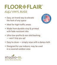 Load image into Gallery viewer, floor flair vinyl rug studio m