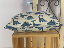 "Load image into Gallery viewer, Lumbar (12"" x 16"") Dinosaurs Pillow Covers - InRugCo Studio & Gift Shop"