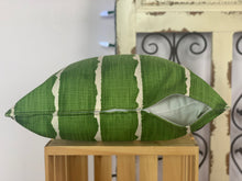 "Load image into Gallery viewer, 18"" Green w/ White Stripe Pillow Covers - InRugCo Studio & Gift Shop"