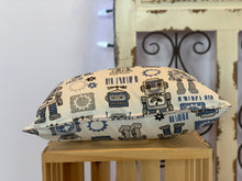 "Load image into Gallery viewer, Lumbar (12"" x 16"") Robot Gear Pillow Cover - InRugCo Studio & Gift Shop"