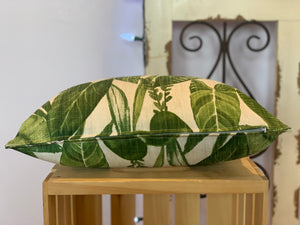 "Lumbar (12"" x 16"") Green Jungle Leaves Pillow Cover - InRugCo Studio & Gift Shop"