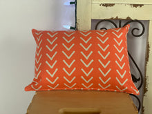"Load image into Gallery viewer, Lumbar (12"" x 16"") Orange and White Pillow Covers - InRugCo Studio & Gift Shop"
