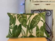 "Load image into Gallery viewer, Lumbar (12"" x 16"") Green Jungle Leaves Pillow Cover - InRugCo Studio & Gift Shop"