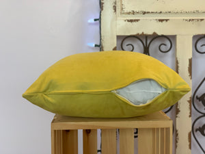 "18"" Chartreuse Solid Microsuede Pillow Covers - InRugCo Studio & Gift Shop"