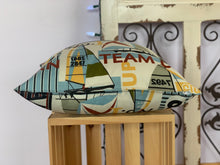 "Load image into Gallery viewer, 18"" Nautical Sailboat Pillow Covers - InRugCo Studio & Gift Shop"