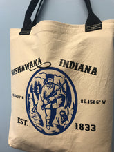 Load image into Gallery viewer, Mishawaka Indiana Fur Trapper | Canvas Tote - InRugCo Studio & Gift Shop