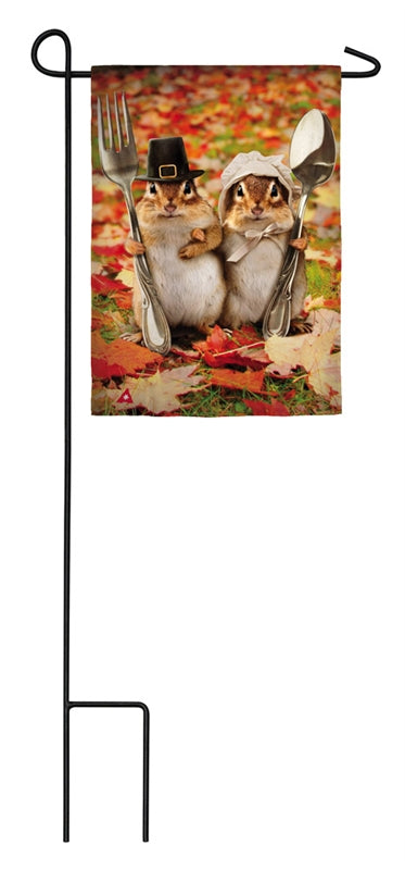 gothic chipmunks satin garden flag
