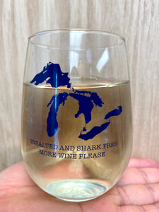 Great Lakes unsalted and shark free wine tumbler