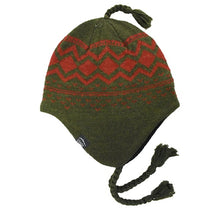 Load image into Gallery viewer, Ragg Wool Peruvian Hat - Green | Men's Winter Hat