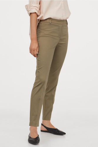 hm khaki green slacks