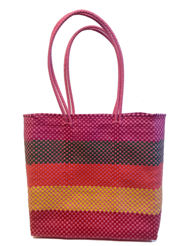 Purple, Yellow & Pink Woven Bag | Oaxaca, Mexico - InRugCo Studio & Gift Shop