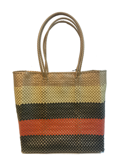 Black, Tan & Orange Woven Bag | Oaxaca, Mexico - InRugCo Studio & Gift Shop