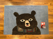 Load image into Gallery viewer, holiday black bear rug inrugco