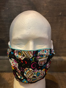 Day of Dead Sugar Skull | XL Fabric Face Mask - InRugCo Studio & Gift Shop