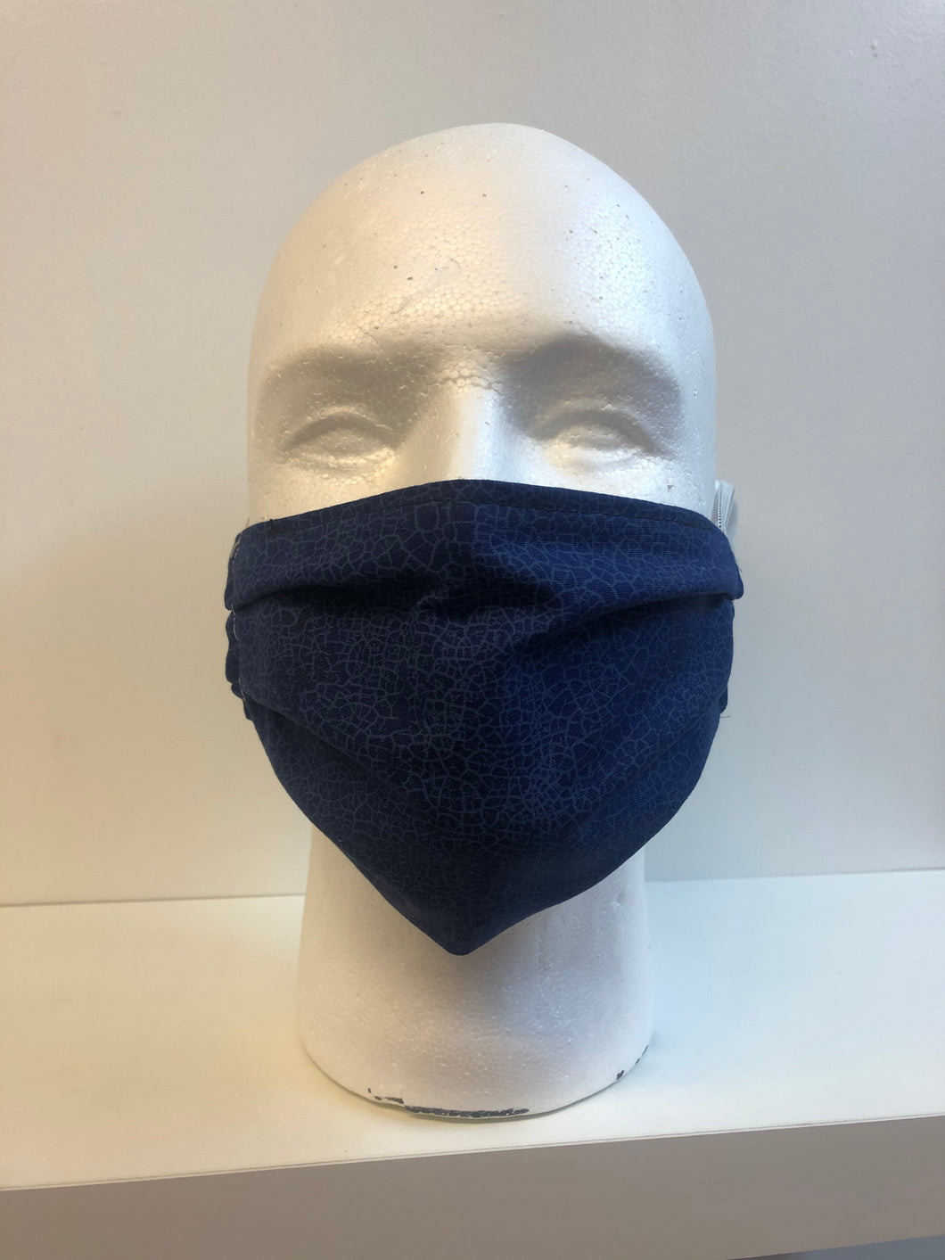 Blue Crackle | Basic Fabric Face Mask - InRugCo Studio & Gift Shop