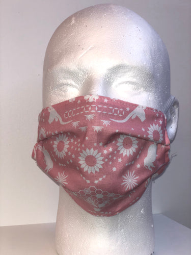 Pink Sunflower Face Mask | InRugCo Studio & Gift Shop - InRugCo Studio & Gift Shop