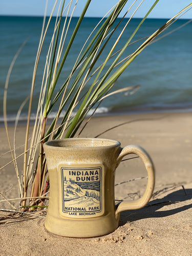indiana dunes national park coffee mug yellow