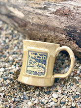 Load image into Gallery viewer, indiana dunes national park mug sand dune yellow