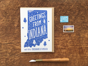 Indiana Greeting Card | Noteworthy - InRugCo Studio & Gift Shop