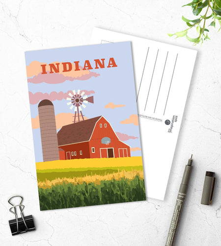 Indiana State Postcard | The Imagination Spot