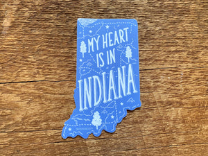 Indiana Sticker | My Heart is in Indiana - InRugCo Studio & Gift Shop