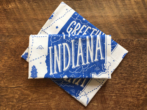 Indiana Tea Towel | Noteworthy - InRugCo Studio & Gift Shop