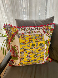 indiana vintage map illow