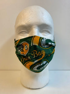 kids Green Bay packers face mask
