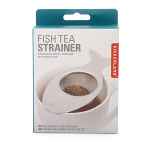 kikkerland tea strainer fish