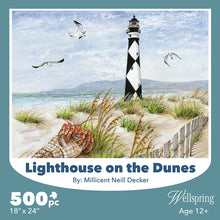 Load image into Gallery viewer, lighthouse on the dunes puzzle wellspring
