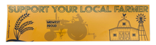 Load image into Gallery viewer, Support Your Local Farmer - Midwest Proud | Bumper Sticker - InRugCo Studio & Gift Shop