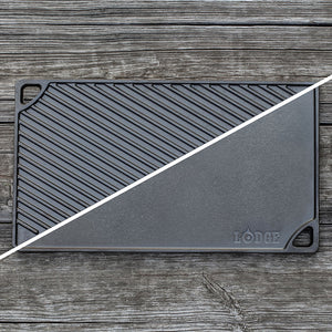 16.75 x 9.5 Inch Cast Iron Reversible Grill/Griddle | Lodge