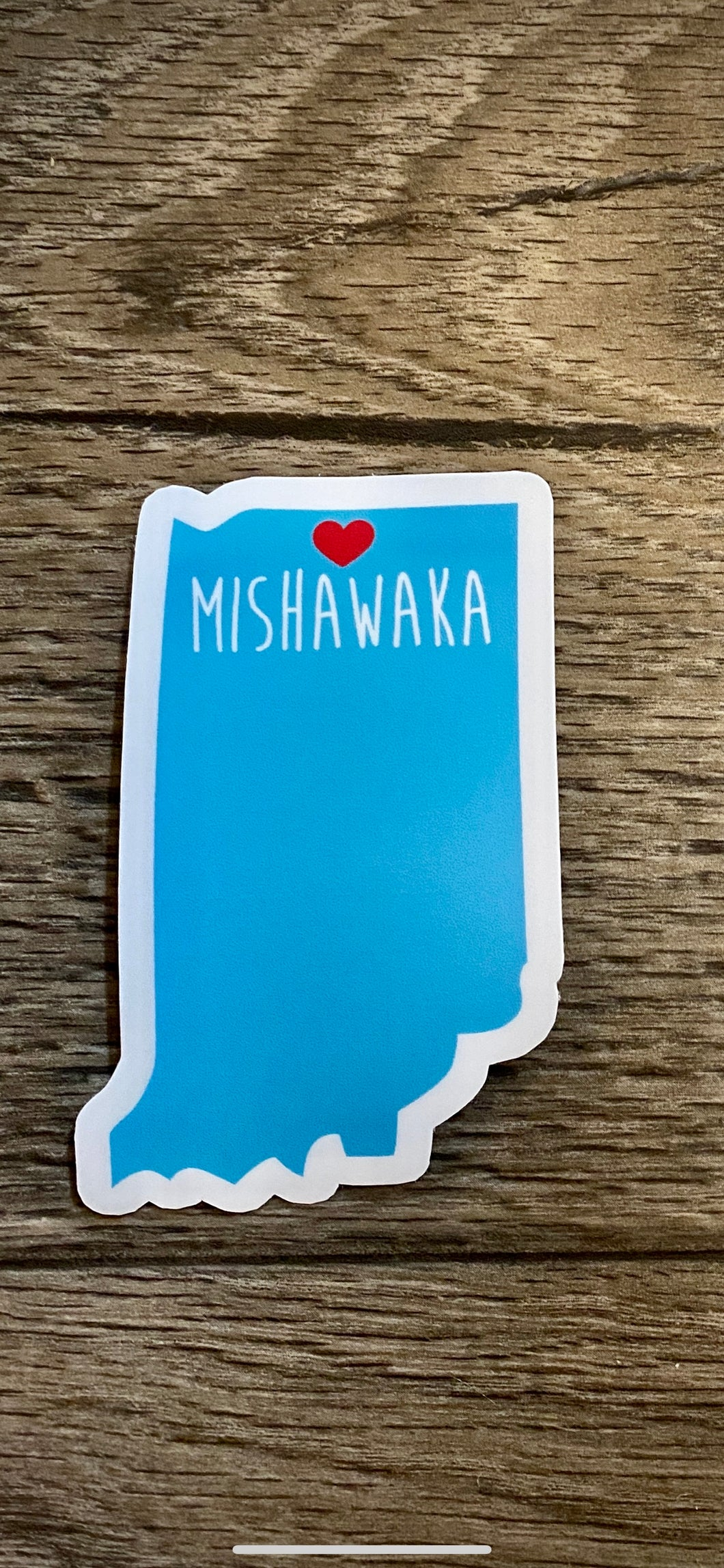 love Mishawaka Indiana sticker