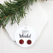 Load image into Gallery viewer, merlot druzy stud earrings spiffy splendid
