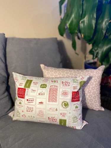 merry christmas lumbar 12x16 pillows inrugco