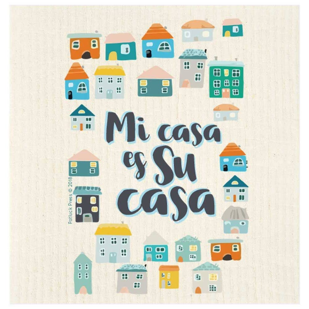 mi casa es su casa swedish dishcloth