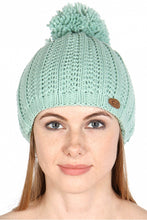 Load image into Gallery viewer, mint cc beanie pom