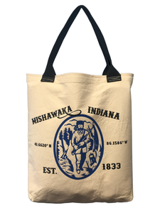Mishawaka Indiana Fur Trapper | Canvas Tote - InRugCo Studio & Gift Shop