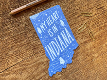 Load image into Gallery viewer, Indiana Sticker | My Heart is in Indiana - InRugCo Studio & Gift Shop