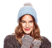 Load image into Gallery viewer, Pink | Dimensions Crochet Beanie w/ Faux Fur Pom