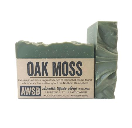 oak moss a wild soap bar