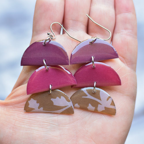 Plum, Burgundy, & Natural Earrings | The Olive Tale - InRugCo Studio & Gift Shop