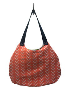Orange & White Market Bag - InRugCo Studio & Gift Shop