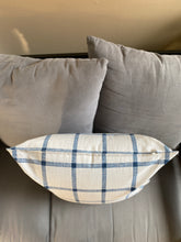 "Load image into Gallery viewer, 20"" Blue & Light Grey Pattern Pillow Covers - InRugCo Studio & Gift Shop"