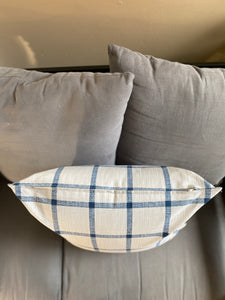 "20"" Blue & Light Grey Pattern Pillow Covers - InRugCo Studio & Gift Shop"