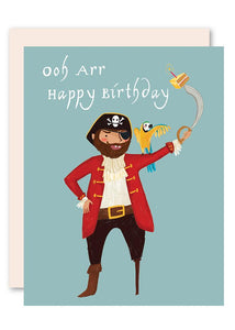 pirate birthday card pencil joy